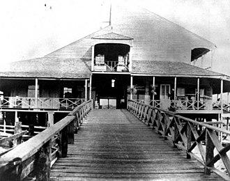 """Punta Rassa, Florida - Pre-1906 photo of the """"Barracks"""", also known as the Tarpon House, at Punta Rassa,Florida."""