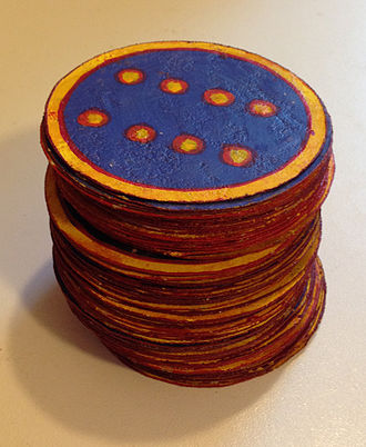 Ganjifa - Playing cards from Puri, Odisha, India, made with the traditional pattachitra technique.