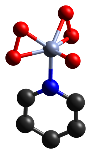 Chromium(VI) oxide peroxide - Structure of the complex of CrO5 with pyridine