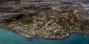 Qaarsut - Aerial panorama of Qaarsut