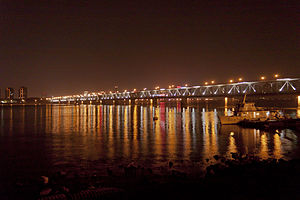 Qiantangjiang River Bridge at night.jpg