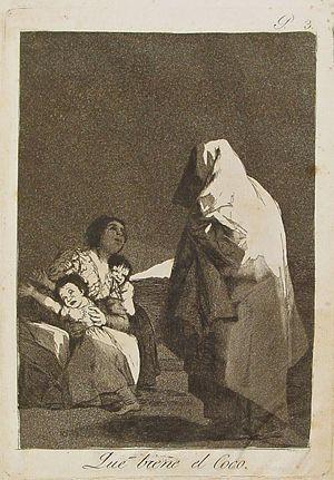 Capricho nº 3: Que viene el coco de Goya, seri...