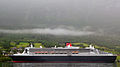 Queen Mary 2 in a fjord in Norway.jpg