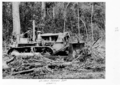Queensland State Archives 4308 Bulldozer clearing at the Childers Soldiers Settlement 1950.png