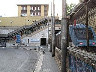 Quintino Sella railway station railway halt in Bari, Italy