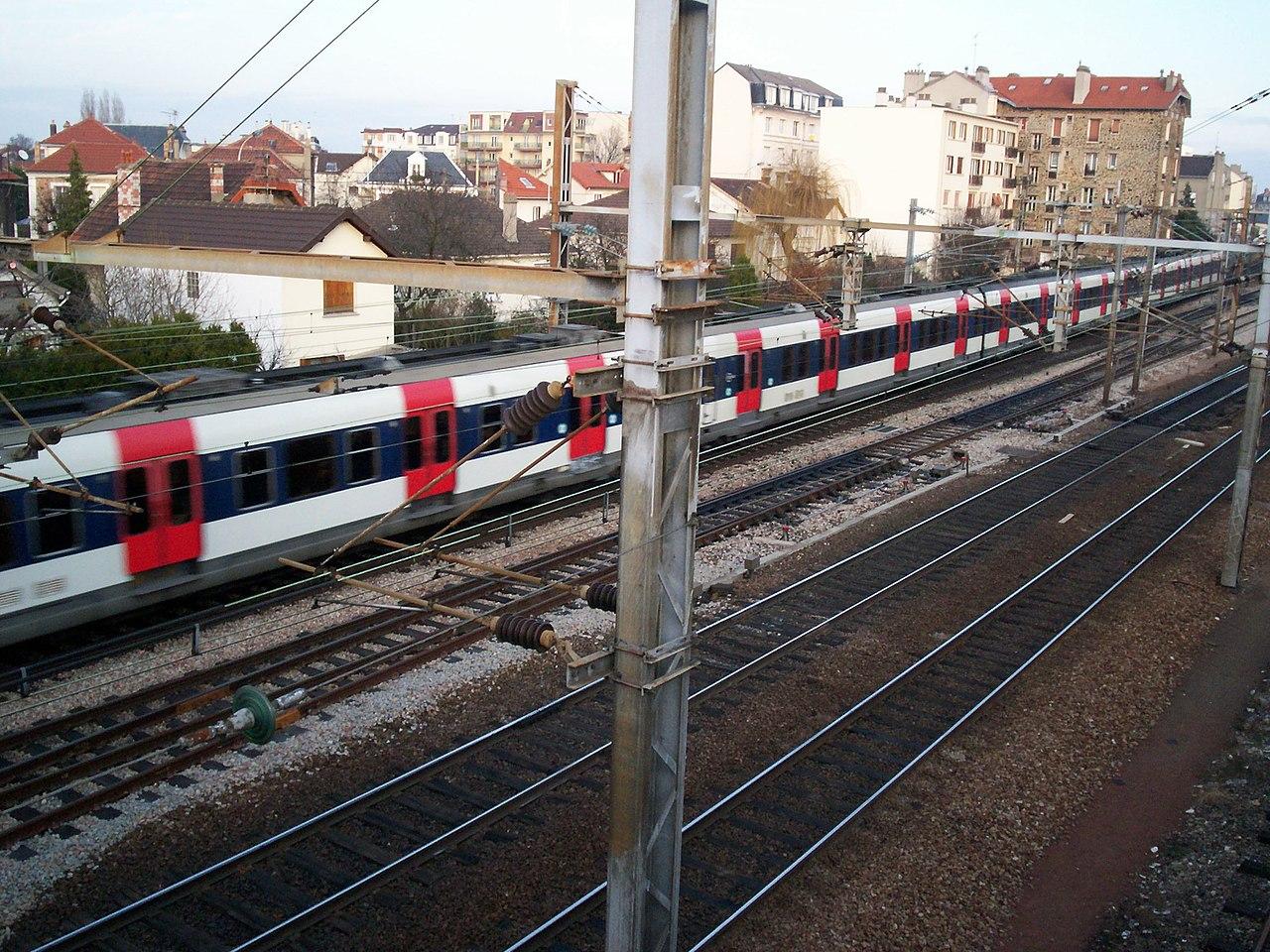 Gare Rer B Vert Galant N A Plan De Ville