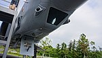 ROKAF RF-4C(60-429) nose camera bay right front low-angle view at Jeju Aerospace Museum June 6, 2014.jpg