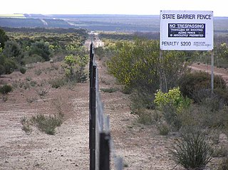 Rabbit-proof fence Pest-exclusion fence in Western Australia