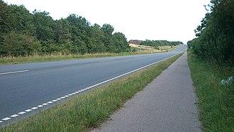 Lisbjerg - Image: Randersvej (nord for Lisbjerg)
