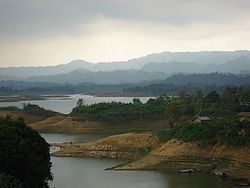 View from Tabalchari BDR camp, Rangamati