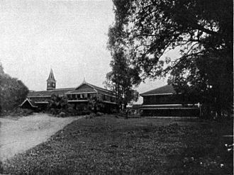 Rangoon College in the early 1900s, before the merger with Judson College. Rangoon College.jpg