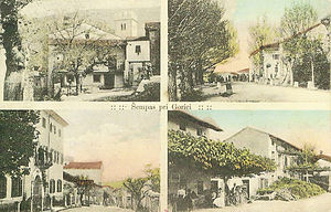Šempas - 1915 postcard of Šempas