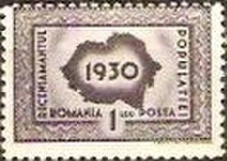 Demographic history of Romania - Postage stamp issued in 1930, marking the census that year.
