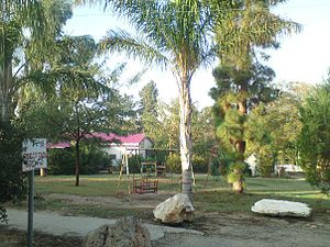Regavim - Image: Regavim gardens in the Kibbutz