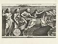 Reliëf met man in wagen getrokken door paarden Iconismvs circensivm et missionis mappae (titel op object), RP-P-OB-4306.jpg