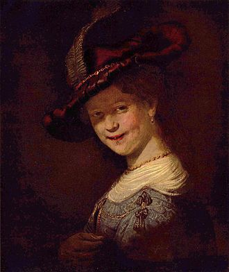 Self-Portrait Wearing a White Feathered Bonnet - Image: Rembrandt Harmensz. van Rijn 090