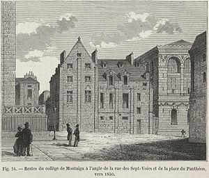 Collège de Montaigu - Collège de Montaigu, ca. 1850