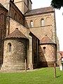 Rheinmünster, Klosterkirche Schwarzach, Chorraim, nördlicher Querarm und Absidiolen, Ansicht von Osten.jpg