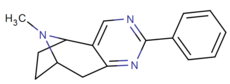 Rigid 2,3-fused pyrimidino cocaine analog 3a.png