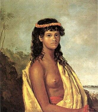 Robert Dampier - Image: Robert Dampier's oil on canvas painting 'Tetuppa, a Native Female of the Sandwich Islands', 1825