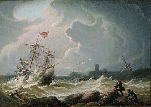 Robert Salmon - Ship in Storm
