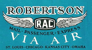 Robertson Aircraft Corporation - Image: Robertson Aircraft Corporation 1928 TT Logo