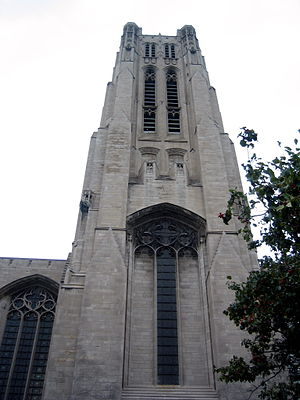 Rockefeller Chapel - The carillon tower of the Rockefeller Chapel.