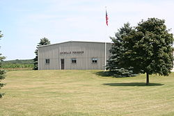 Rockvale Township building along Rt. 2 in Ogle County.