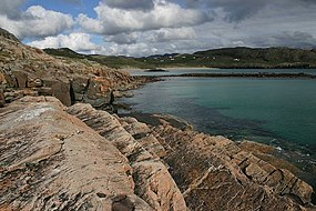 Rocky coastline beyond Oldshoremore Beach - geograph.org.uk - 443294.jpg