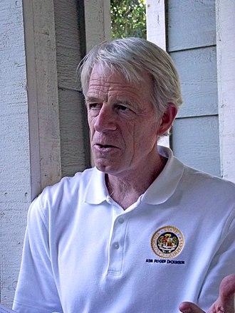 Roger Dickinson - Dickinson in April 2014 as he campaigns door to door in the Sacramento area