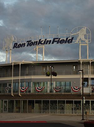 Ron Tonkin Field - Signage after sponsorship deal