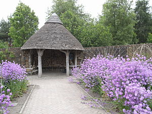 RHS Garden Rosemoor - A gazebo in the garden
