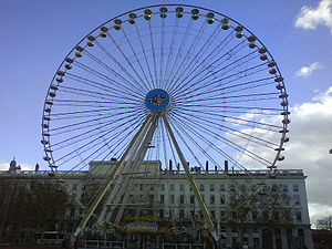 Place Bellecour - The Ferris wheel, on the place Bellecour