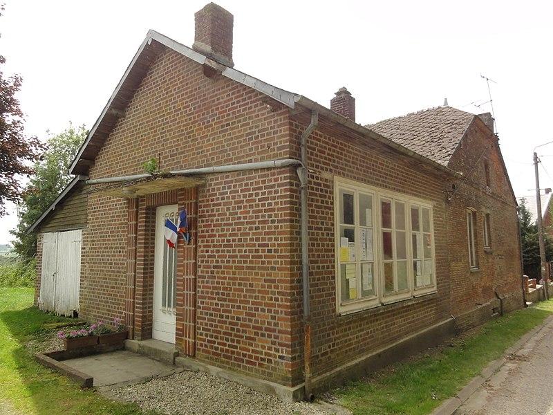 Rouvroy-sur-Serre (Aisne) mairie et ancienne école