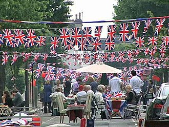 Block party - A street party in London for the 2011 Royal Wedding