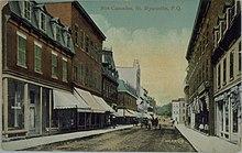 Rue Cascades, Saint-Hyacinthe, carte postale, vers 1903-1910
