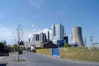 DAX - The RWE-owned Niederaussem Power Station.