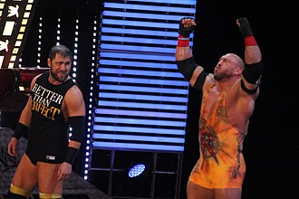 Curtis Axel - Axel (left) and Ryback became a tag team in December 2013