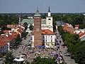 Rynek w Pułtusku - widok z wieży zamku.jpg
