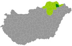 magyarország térkép sárospatak Sárospataki járás – Wikipédia magyarország térkép sárospatak