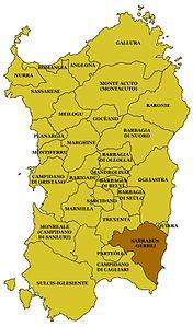 Cartina Sardegna Intera.Sarrabus Gerrei Wikipedia