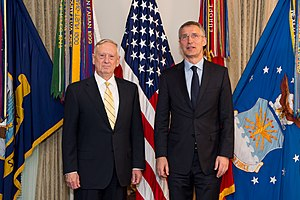 NATO–Russia relations - Stoltenberg and U.S. Defense Secretary James Mattis at the Pentagon in Washington, D.C., 21 March 2017
