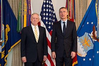 NATO–Russia relations - Stoltenberg and U.S. Defense Secretary James Mattis at the Pentagon in Washington, D.C., 21 March 2017