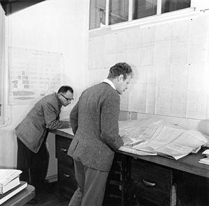 Edmond Wilhelm Brillant - SS Shalom Project, Chantiers de l'Atlantique, 1963 – Edmond Brillant at the left