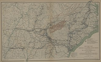 Sherman's March to the Sea - Sherman's advance: Tennessee, Georgia and Carolinas (1863-65).