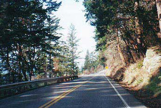 Washington State Route 11 - SR 11 in the Chuckanut Mountains south of Bellingham.