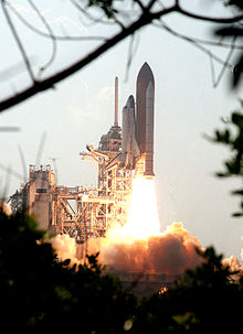 The launch of STS-105