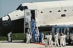 STS 41-G crew leaves orbiter after landing at Kennedy Space Center.jpg