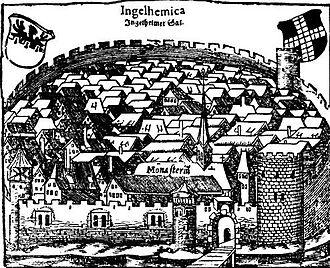 Cosmographia (Sebastian Münster) - Image: Saal Ingelheim Cosmographia 1628