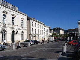 The town hall of Sablé in Raphaël Élizé square.